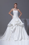 Luxury Outdoor Princess Sleeveless Court Train Pick up Bridal Gowns