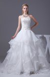 Glamorous Hall Princess Strapless Sleeveless Organza Bridal Gowns