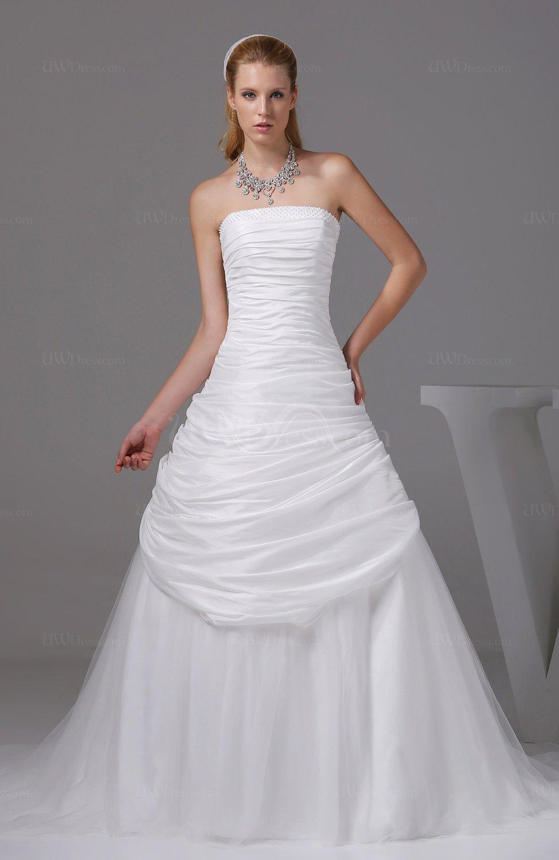 Cream gorgeous church a line sleeveless taffeta ruching for A line wedding dress with ruching