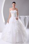 Glamorous Destination Princess Organza Floor Length Ruffles Bridal Gowns