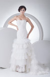Gorgeous Hall Trumpet Sleeveless Lace up Court Train Bridal Gowns