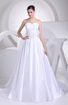 Plain Garden Sweetheart Sleeveless Zip up Court Train Bridal Gowns