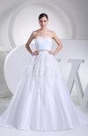 Cinderella Garden Princess Scalloped Edge Sleeveless Court Train Paillette Bridal Gowns