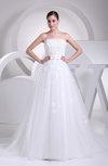 Gorgeous Church Sleeveless Chapel Train Sash Bridal Gowns