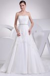Gorgeous Outdoor Scalloped Edge Lace up Court Train Appliques Bridal Gowns