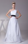 Elegant Garden Sleeveless Taffeta Court Train Rhinestone Bridal Gowns
