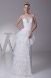 Glamorous Destination A-line Zip up Organza Floor Length Bridal Gowns