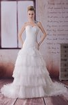 Fairytale Garden Princess Sweetheart Zipper Organza Tiered Bridal Gowns