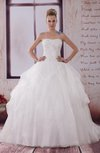 Disney Princess Outdoor Ball Gown Backless Brush Train Paillette Bridal Gowns