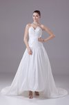 Classic Garden A-line Sleeveless Backless Ruching Bridal Gowns