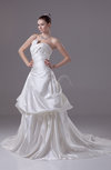 Gorgeous Garden Strapless Sleeveless Zip up Satin Bridal Gowns