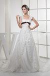 Fairytale Church A-line Sleeveless Zipper Edging Bridal Gowns
