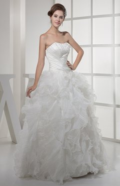 Fairytale Hall Princess Sleeveless Floor Length Bridal Gowns