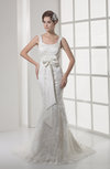 Glamorous Church Scoop Zip up Court Train Bridal Gowns