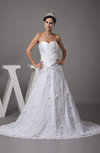 Gorgeous Garden A-line Sweetheart Backless Ruching Bridal Gowns
