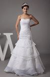 Elegant Destination Fit-n-Flare Sleeveless Backless Appliques Bridal Gowns
