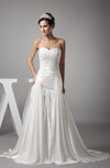 Gorgeous Garden A-line Sleeveless Backless Silk Like Satin Pleated Bridal Gowns