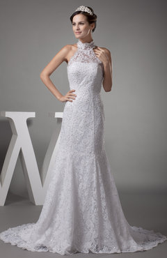 Luxury Outdoor Sleeveless Zipper Court Train Paillette Bridal Gowns