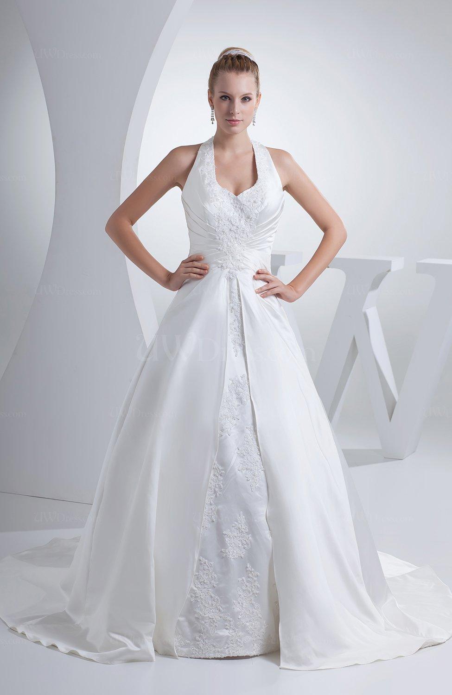 Traditional Outdoor Princess Halter Sleeveless Backless ...Backless Halter Wedding Dresses