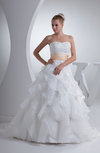 Romantic Garden Princess Sweetheart Backless Rhinestone Bridal Gowns