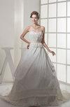 Romantic Outdoor Sweetheart Sleeveless Taffeta Court Train Bridal Gowns