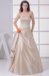 Modest Outdoor Sleeveless Backless Floor Length Embroidery Bridal Gowns