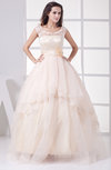 Elegant Destination Princess Sheer Sleeveless Tiered Bridal Gowns
