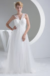 Cinderella Outdoor A-line V-neck Panel Train Bridal Gowns