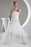 Disney Princess Hall Sleeveless Lace up Organza Chapel Train Beaded Bridal Gowns