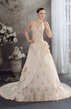 Disney Princess Church A-line Sweetheart Backless Chiffon-Satin Flower Bridal Gowns