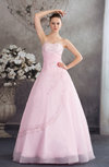 Glamorous Hall Sleeveless Lace up Floor Length Embroidery Bridal Gowns