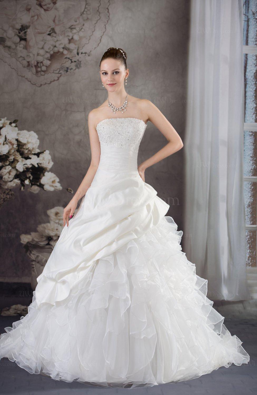 Disney princess church a line strapless sleeveless edging for Disney line wedding dresses