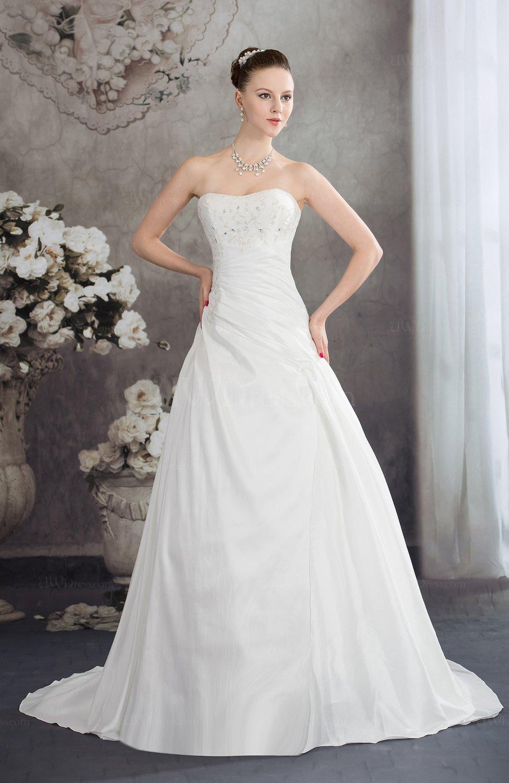 Cream disney princess hall a line strapless backless for Disney line wedding dresses