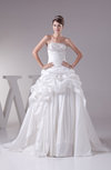 Elegant Hall Princess Strapless Sleeveless Backless Embroidery Bridal Gowns