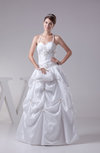 Glamorous Beach A-line Halter Taffeta Pick up Bridal Gowns