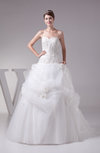 Fairytale Outdoor Princess Sweetheart Court Train Flower Bridal Gowns