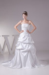 Glamorous Church Strapless Sleeveless Backless Appliques Bridal Gowns
