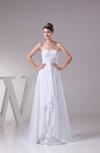 Romantic Garden A-line Backless Chiffon Appliques Bridal Gowns