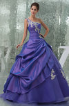 Fairytale Church Full Skirt One Shoulder Backless Appliques Bridal Gowns