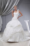 Elegant Church Ball Gown Chapel Train Lace Bridal Gowns