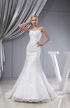 Glamorous Church Mermaid Sweetheart Cathedral Train Sequin Bridal Gowns