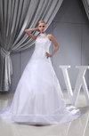 Glamorous Church Princess Illusion Sleeveless Rhinestone Bridal Gowns