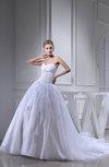 Elegant Church Sweetheart Sleeveless Organza Paillette Bridal Gowns