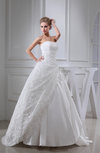 Elegant Hall Strapless Sleeveless Backless Taffeta Floor Length Bridal Gowns