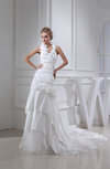 Gorgeous Hall Sheath Halter Sleeveless Cathedral Train Ruching Bridal Gowns