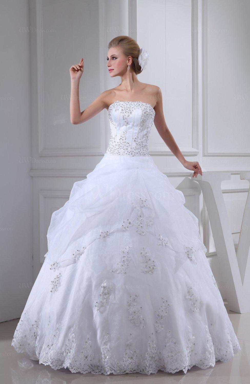 Cinderella Church Strapless Backless Floor Length Edging Bridal ...