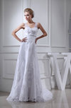 Glamorous Hall A-line Sheer Sleeveless Chapel Train Bridal Gowns