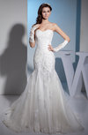 Glamorous Church Sweetheart Sleeveless Backless Chapel Train Paillette Bridal Gowns