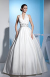 Classic Destination Princess Lace up Floor Length Sequin Bridal Gowns