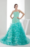 Fairytale Garden Sweetheart Sleeveless Organza Court Train Sequin Bridal Gowns